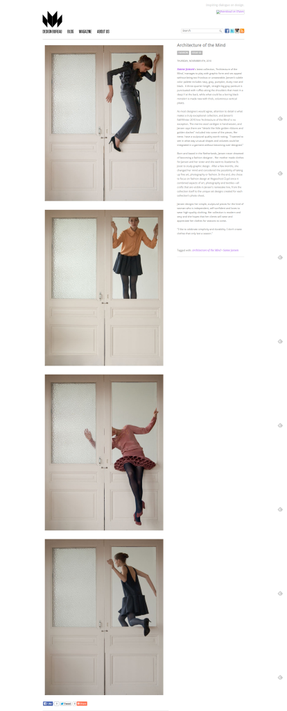 """Architecture of the Mind,"" Design Bureau Magazine"